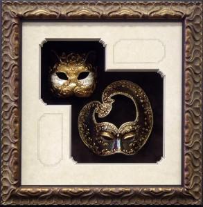 Dual framed Venetian Masks