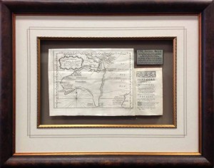 Framed 17th Century Book with Map Extended1