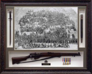 Framed Anzac Photo with 303 Bayonet