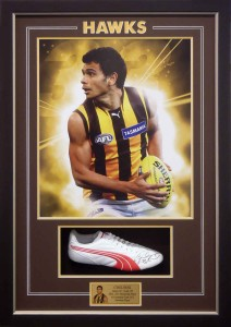 Framed Hawkes Poster and Boot