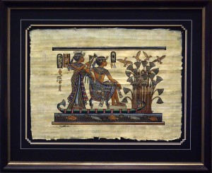 Framed-Matted-Egyptian-Pa