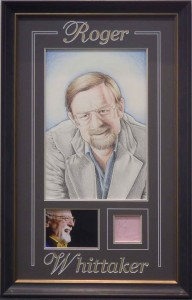 Framed Roger Whittaker Signature