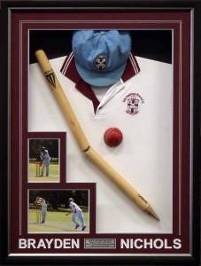 Framed Shirt Cap Ball Stump
