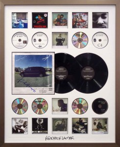 Kendrick Lamar LP CD Collage