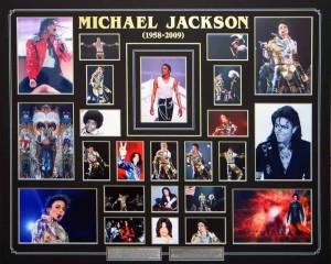 Michael Jackson Collage with Custom Matt