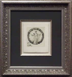 Top Mounted Etching with Fillet and Ornate Frame