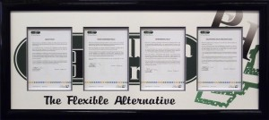 Framed-Certificates-with-Company-Logo-Printed-Mattboard