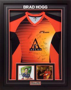 Framed-Brad-Hogg-Signed-Shirt