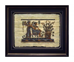 Framed-Matted-Egyptian-Papyrus