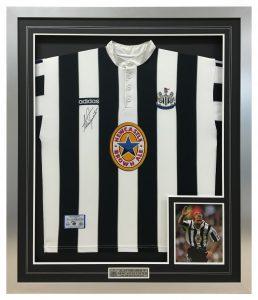 Newcastle-United-Framed-Shirt
