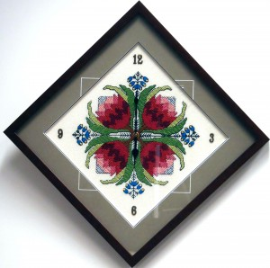 Framed Clock-Tappestry