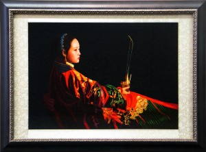 Framed Vietnamese-Silk-Needlework