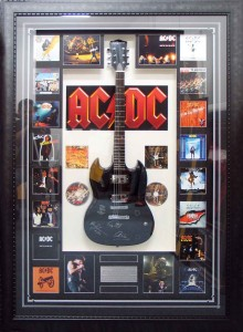 Framed ACDC Guitar Collage