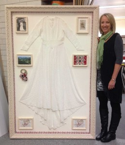 Framed Antique Wedding Dress