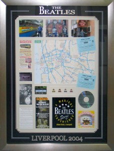 Framed Beatles Tour Collage