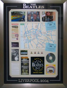 Beatles Tour Map Collage