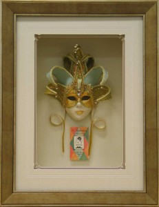 Box Framed Venetian Mask