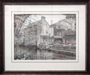 Framed Charcoal-Drawing