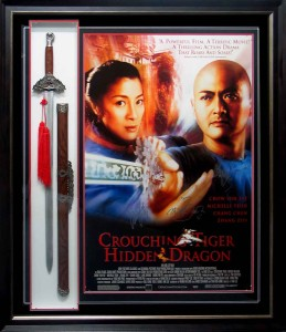 Framed Crouching Tiger Poster and Sword