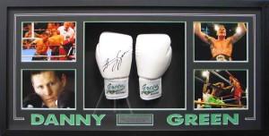 Framed Danny Green Gloves
