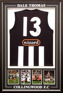 Framed Collingwood Jersey