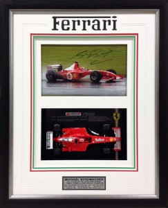 Framed Ferrari Model Car