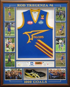 Framed Football Shirt and Boot