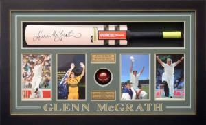 Framed Glenn McGrath Bat Ball