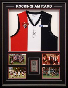 Framed Rockingham Rams Football Jumper