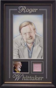 Framed Roger Whittaker Signature
