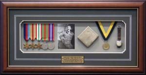 Framed Servic Memorabilia