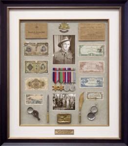 Framed Service Memorabilia Medals