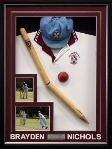 Framed Shirt Cap Ball Stump