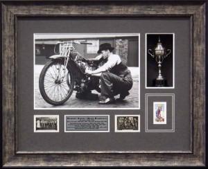 Framed Speedway Memorabilia