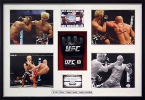 Framed Thiago Alves UFC Collage
