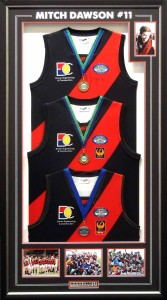 Framed Triple Premiership Jumpers