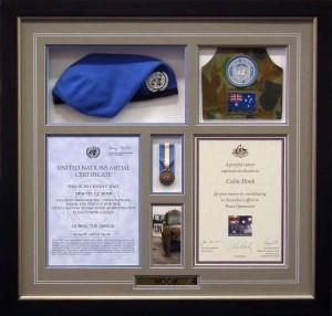 Framed United Nations Memorabilia