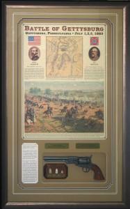 Framed Gettysburg Pistol Collage