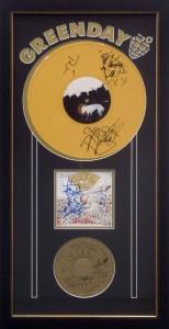 Framed Greenday LP CD