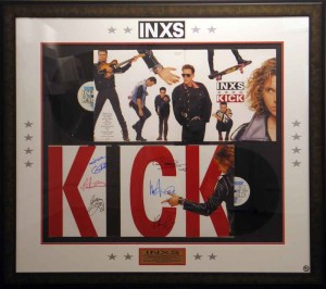 Framed Inxs DBL Album with Cut Outs
