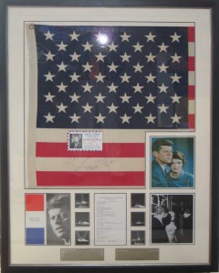 Framed JFK & Monroe Flag Collage