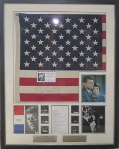 Framed J F K Monroe Flag Collage