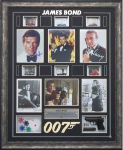 Framed James Bond Collage