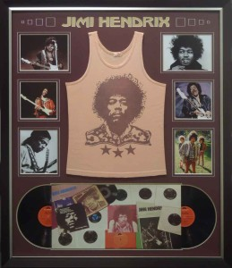 Framed Jimi Hendrix Concert Singlet