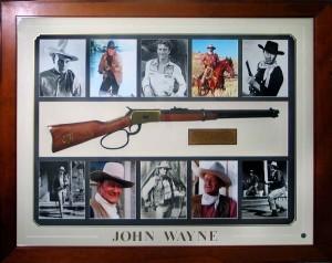 Framed John Wayne Rifle Collage