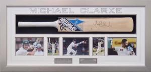 Framed Michael Clarke Bat