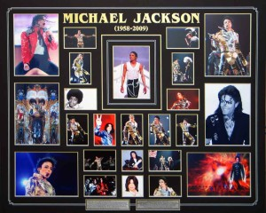 Framed Michael Jackson Photo Collage