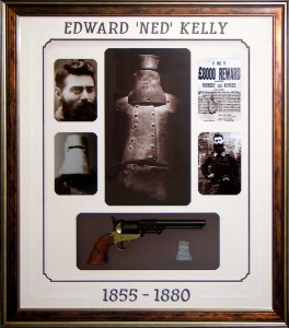 Framed Ned Kelly Pistol Collage