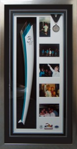 Framed Olympic Torch Relay Collage