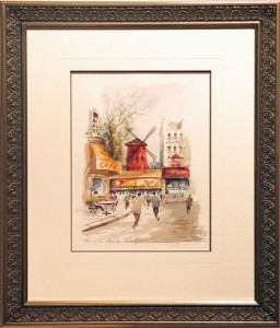 Framed Paris Watercolour